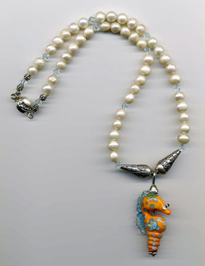 Jujee Whimsical Seahorse Necklace - UniqueCherie