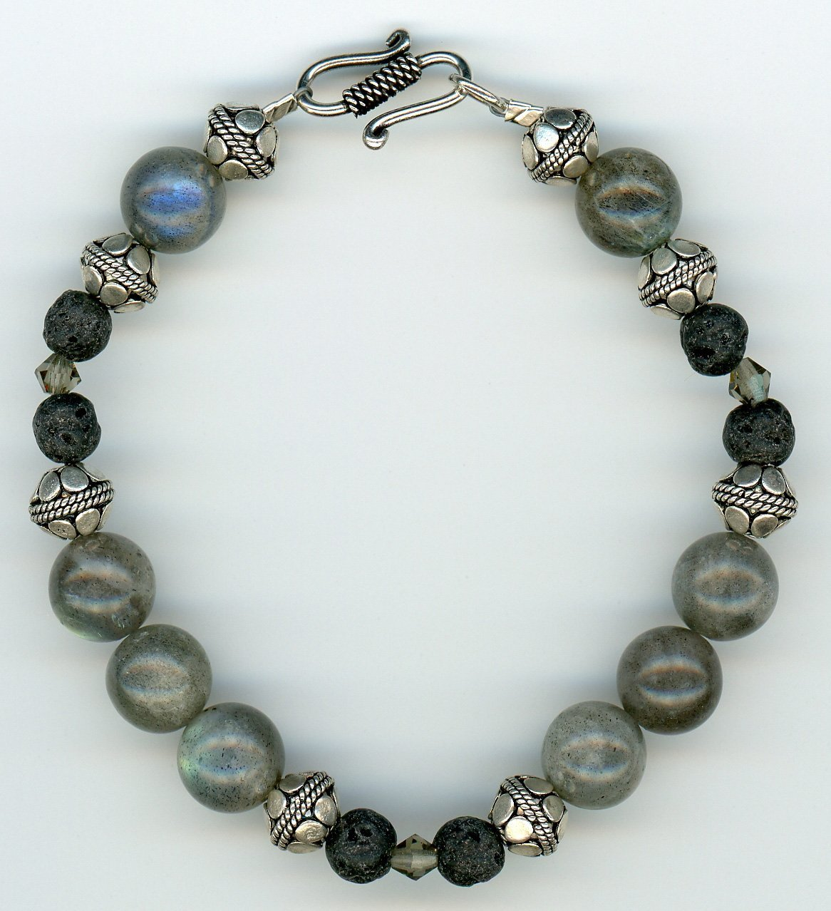 Labradorite and Sterling Bracelet - UniqueCherie