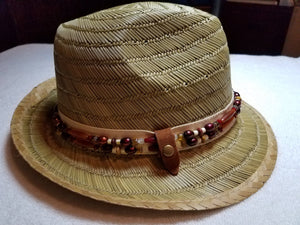 Ruby and Butterscotch Removable Necklace and Barbados Fedora Hat - UniqueCherie