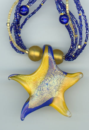 Stephen the Dancing Sea Star Necklace - UniqueCherie