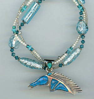 Turquoise Horse Necklace - UniqueCherie