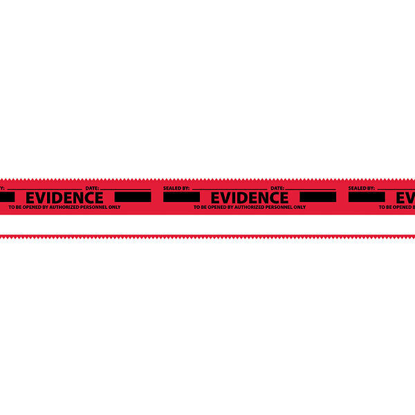"Sealed Evidence Sealing Tape, Red, 1.375"" x 108 ft."