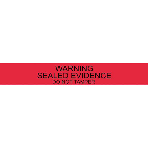 "Long ""Sealed Evidence"" Seals, 1"" x 7"", Pack of 100"