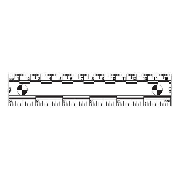 "Magnetic 6"" Ruler, White"