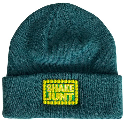 Box Logo Dark Green Cuff Beanie