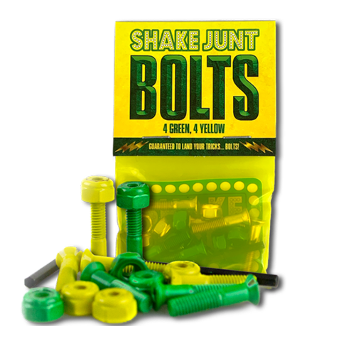 Bag O' Bolts 4 Green, 4 Yellow