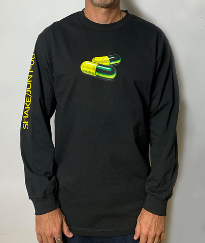 Addicted Black Longsleeve Tee