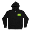 Patches Black Zip-Up Hoodie