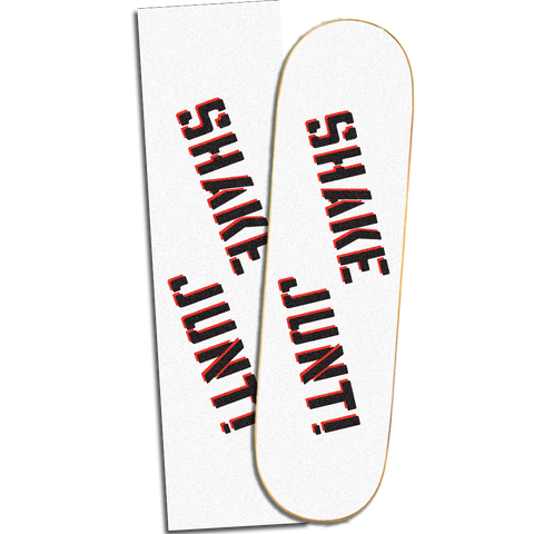 SHAKE JUNT WHITE / BLACK SPRAY  GRIP TAPE