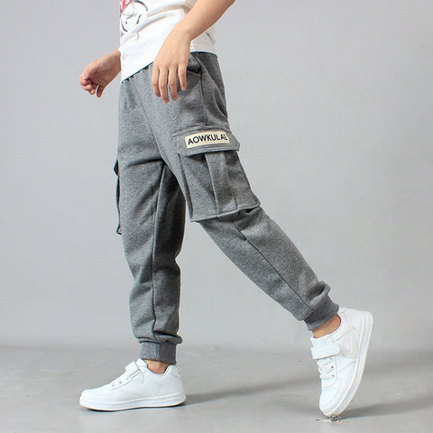 Big Boy Pants Spring Teenage Boy Sports Pants 2018 Spring Toddler Casual Kids Trousers For Boys Clothes Age 10 12 14 16 Year - Prime Essentials