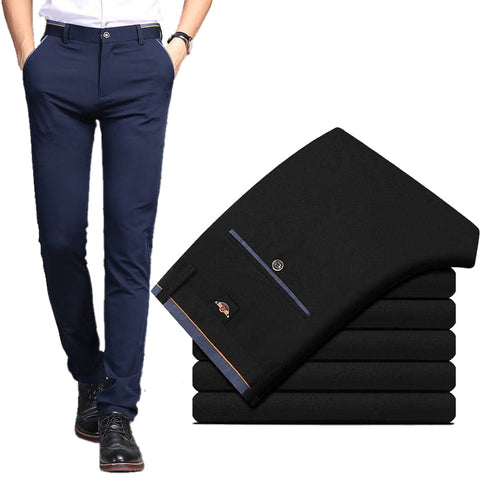 Elastic Wrinkle Resistant Classic Trousers Male