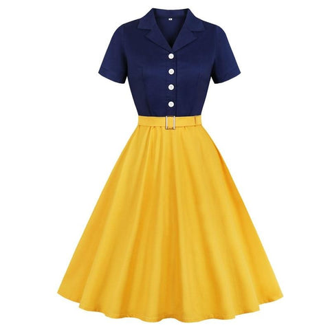 Belted Rockabilly Elegant Dress for Women's  Classy outfits | Elegant Outfits
