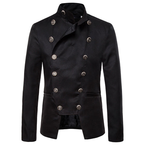 Vintage Retro Steampunk Men Blazer