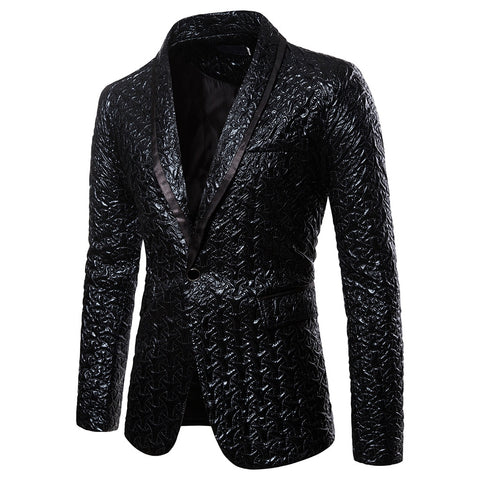 Wedding Suits For Groom with Black Slim Masculino Wedding Blazers