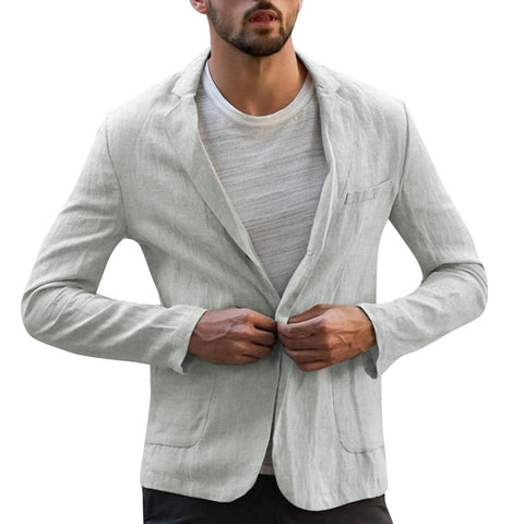 Thin Fit Linen men blazer