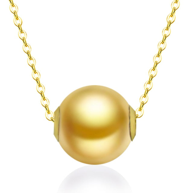 18K Gold Pearl Pendant Necklace Fine Jewelry for Women