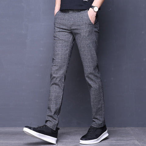 Mens Plaid Pants | Casual Slim Suit Plaid Pants | Plaid Pants