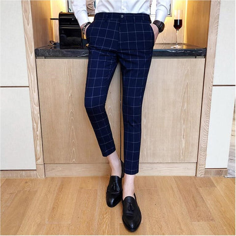 Slim Fit Ankle Lenght Dress Pants