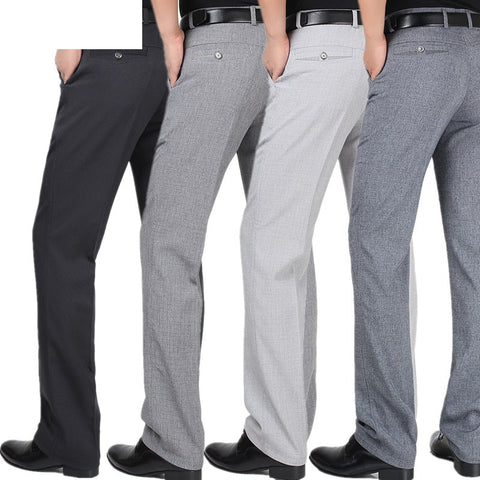 Spring Summer Classic Straight Formal Suit Pants