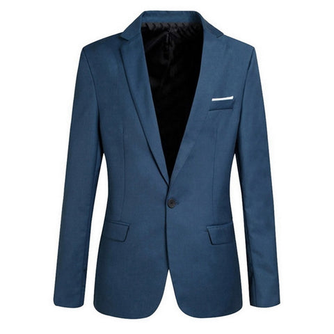 Mens Korean Slim Fit Cotton Blazer
