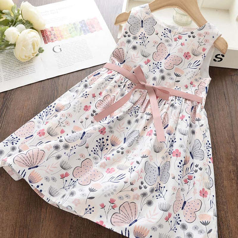 Girl Summer Cotton Sleeveless Toddler Embroidery Vestidos
