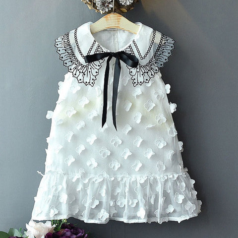 Lace and ball design party dress