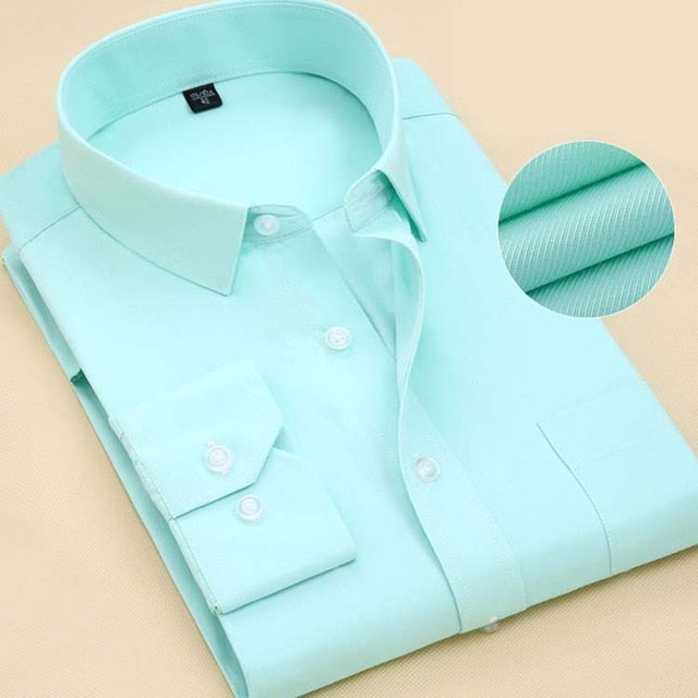 Long Sleeve Shirt in Polyester-Cotton