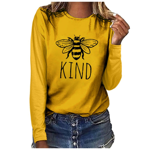 Bee Printed Stylish T-Shirt for Women