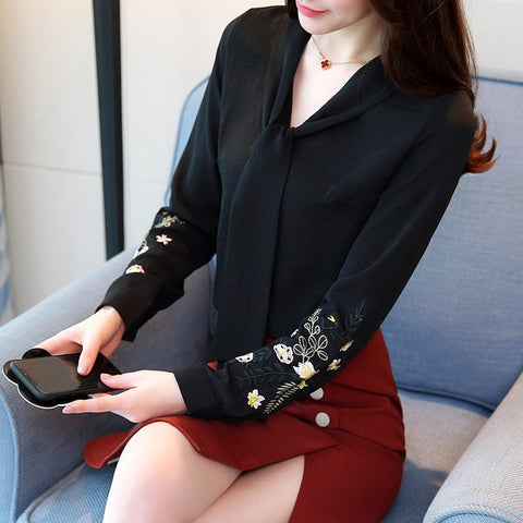 Blusas Feminine Blouse Long Sleeve