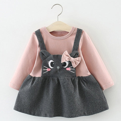 Girls Flower Embroidery Frock Baby Dress