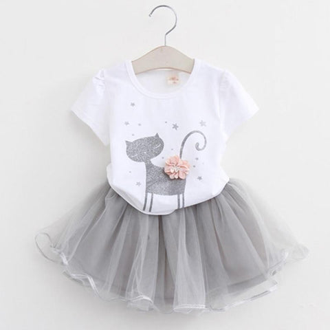 Cute little white cartoon dress
