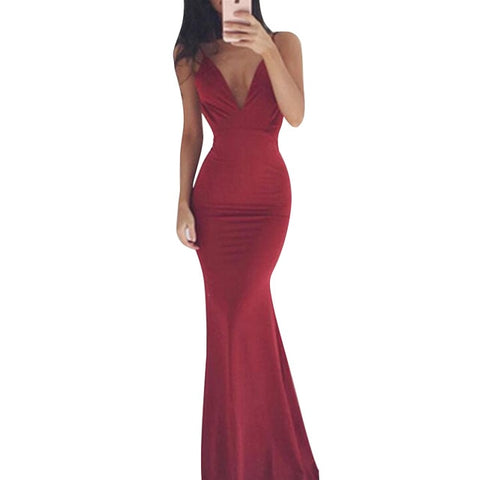 Backless Elegant Maxi Chic Latest Floor-Length Ball Gown