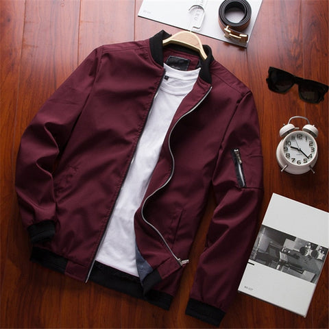 Zipper windbreaker jacket