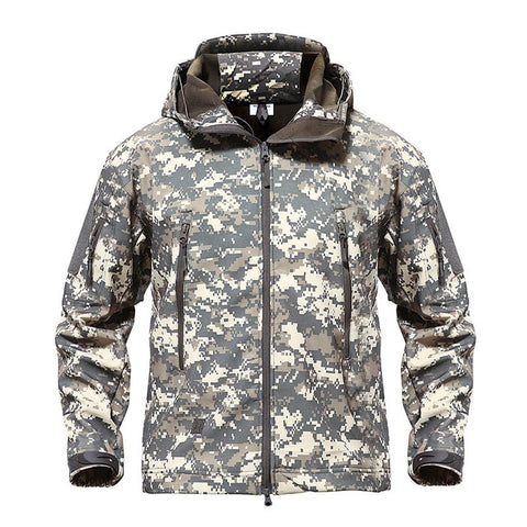 TACVASEN Army Camouflage Airsoft Jacket Men Military Tactical Jacket Winter Waterproof Softshell Jacket Windbreaker Hunt Clothes - Prime Essentials