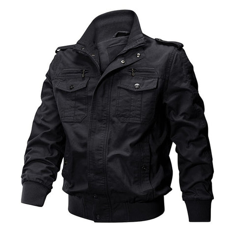 Air force Jacket Casual Cargo Jacket With Stylish Design & Multi Pockets