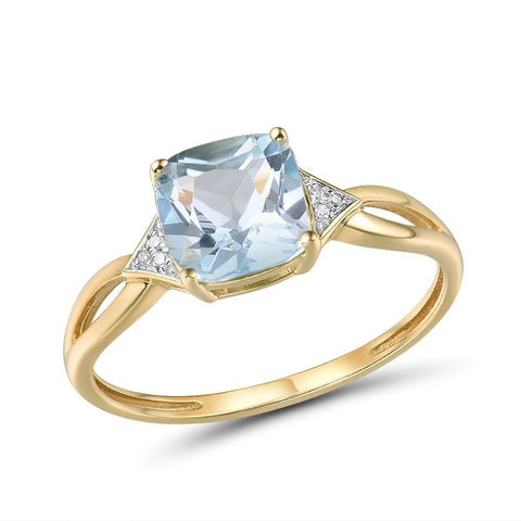 Pure14K Yellow Gold Ring For Women