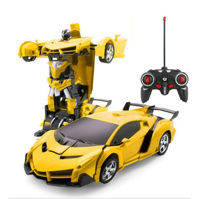 Hipac RC Car Police Transformation Robots Vehicle