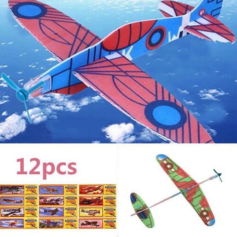 Best Toys for 18 month old Toy Plane12Pcs DIY Hand Throw Aircraft Flying Glider Toy