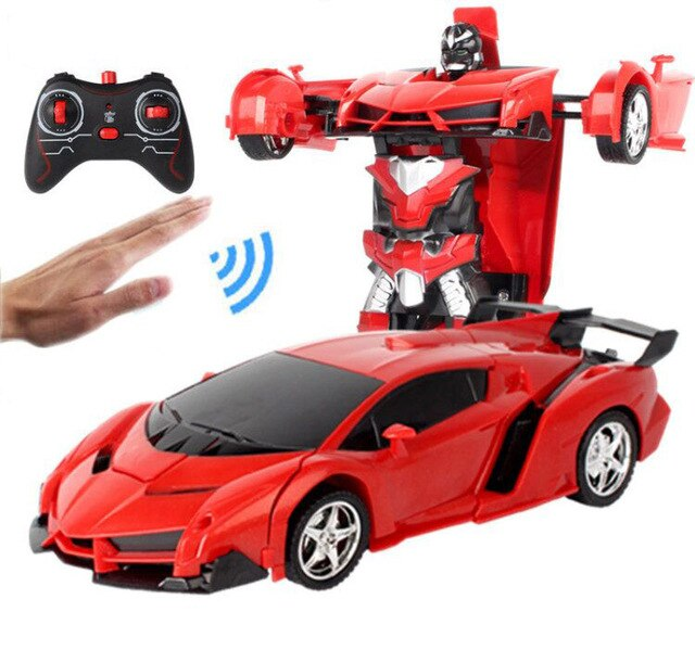 One button automatic deformation robot car
