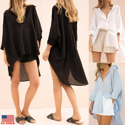 Long Sleeve Loose Blouse Shirt For Lady Fashion