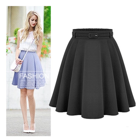 Women's casual medium knee-length skirts