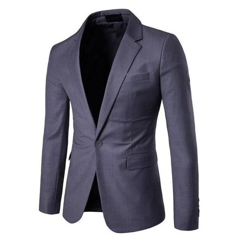 Fashion Casual Slim Fit Button Suit Blazer Jacket