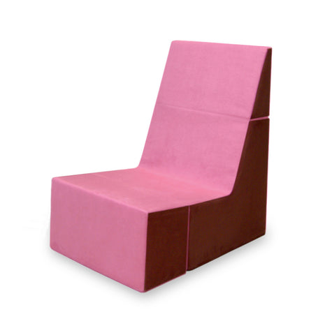 Cubit Chair in Pink/Burgundy