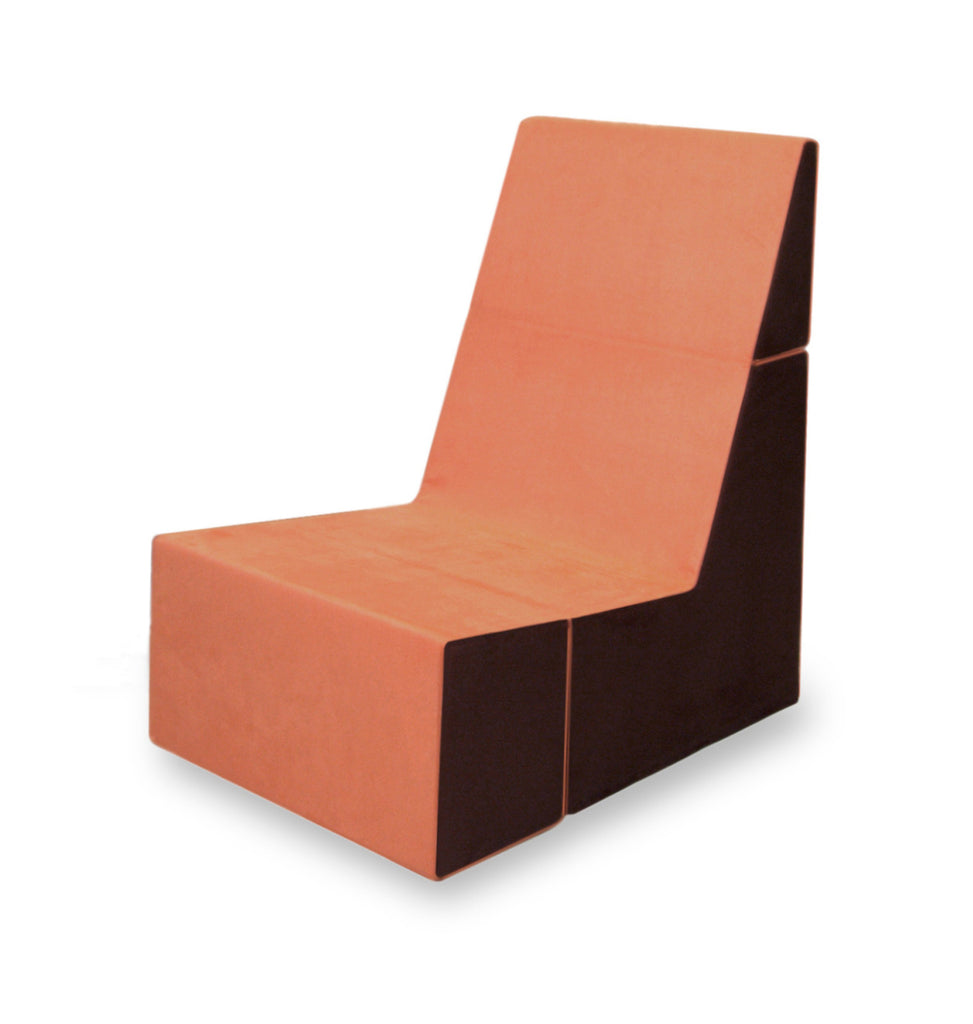 Cubit Chair in Tangerine/Java