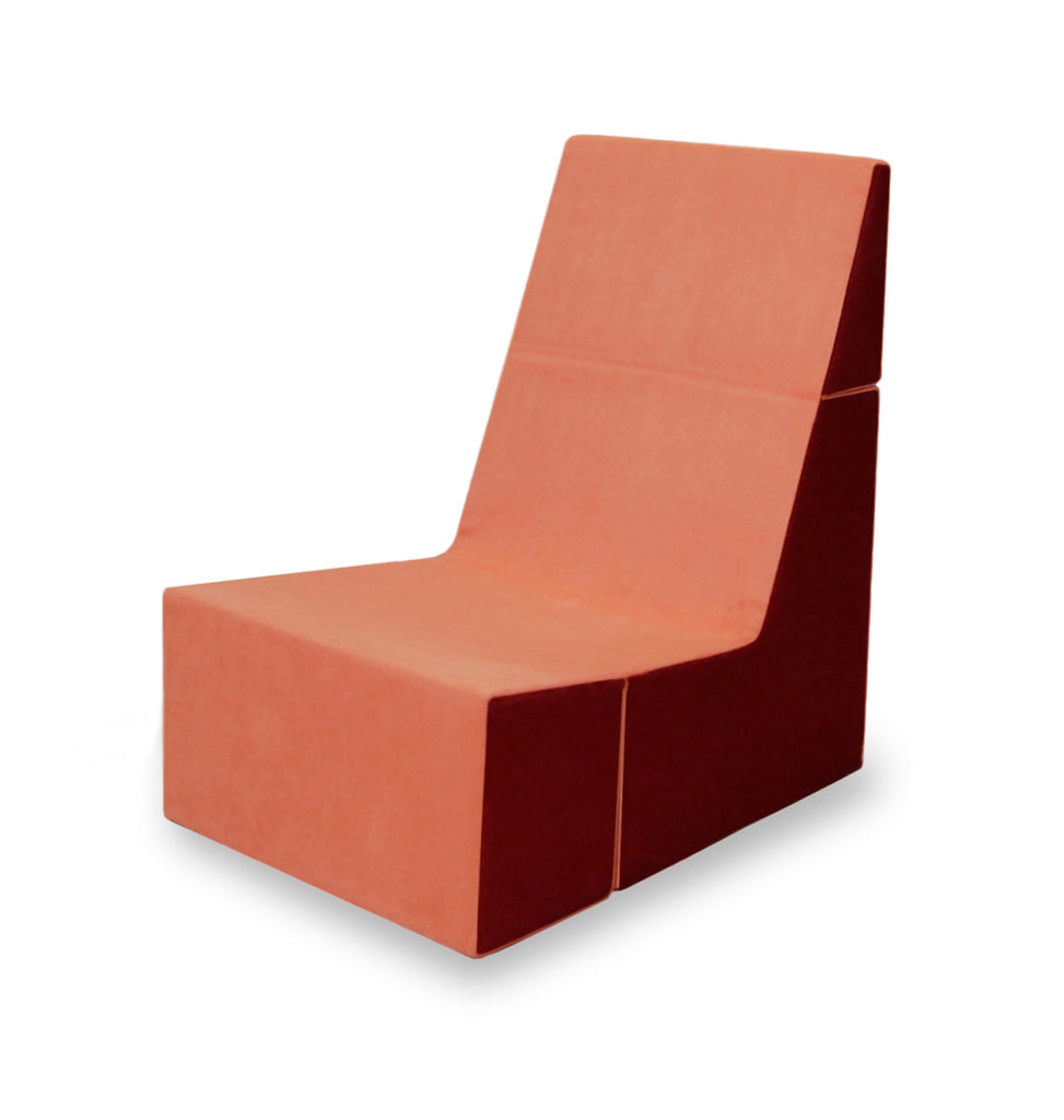 Cubit Chair in Tangerine/Burgundy