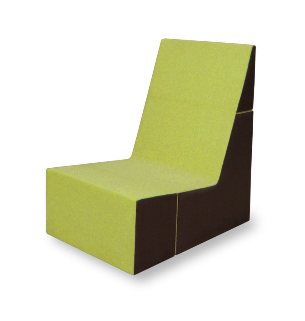 Cubit Chair in Lime/Java