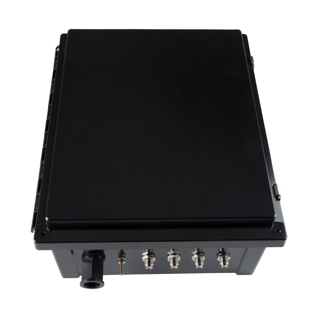 PCE1210604B: Black 12x10x6 inch NEMA 4 RFID Reader Enclosure for Impinj Zebra Alien ThingMagic