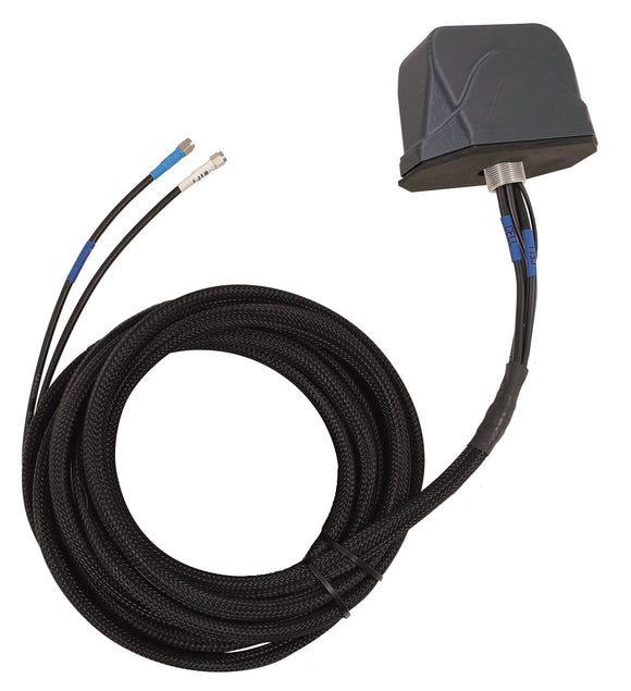 RM2D-4W-15-TT-B: MIMO LTE, MIMO Wi-Fi, Vehicular Antenna Direct Mount with 2x TNC-Male Connectors