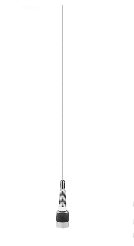 MWV1322HDS:  PCTEL / Maxrad HD VHF Wideband Mobile Antenna - 132-174 MHz - Field Tune - 2.4 dB/ Unity - Spring Included