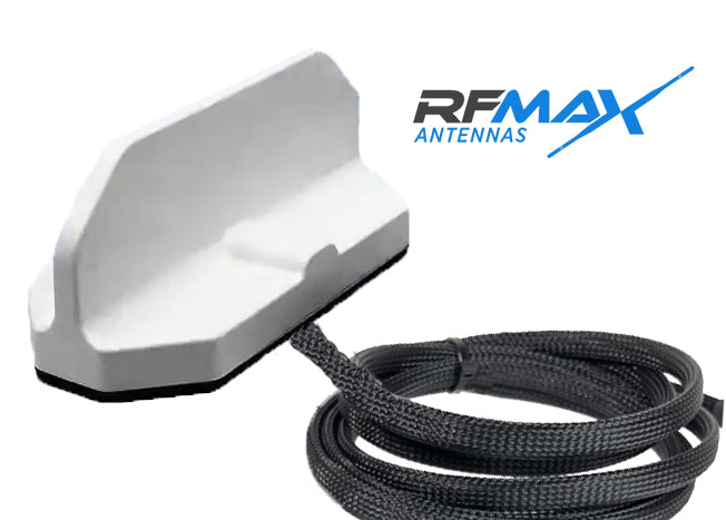 RM1D-WW-18-RR-W: Panasonic Arbitrator 360 Dual WiFi Antenna. White, Roof Mounted with 18 ft. Cables & RPSMA Connectors